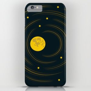 Space art moon and stars dream iPhone case at Society6