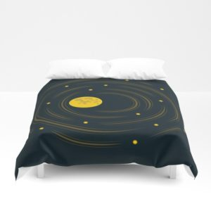 Space art moon and stars dream duvet cover at Society6