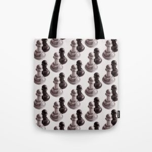 Chess art bag at Society6
