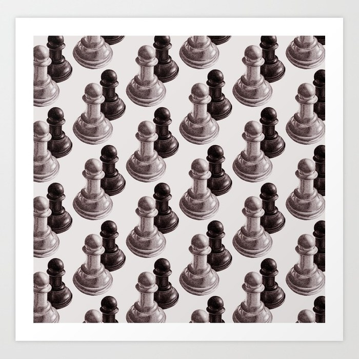 Chess pawns pattern art print at Society6