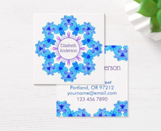 Personalized floral mandala products added to Zazzle