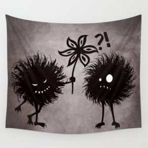 Evil bugs friends cute gothic tapestry at Society6