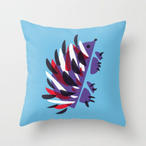 Abstract hedgehog pillow at Society6