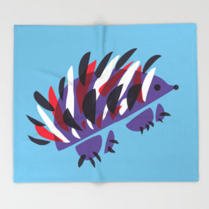 Abstract hedgehog blanket at Society6
