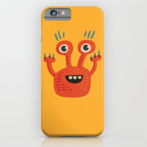 Funny orange monster iPhone case at Society6