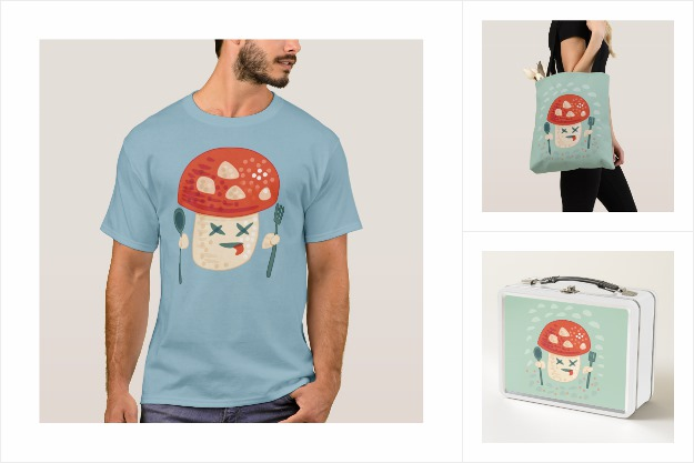 Funny poisoned mushroom Zazzle collection