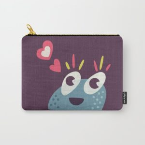 Cute candy creature pouch at Society6