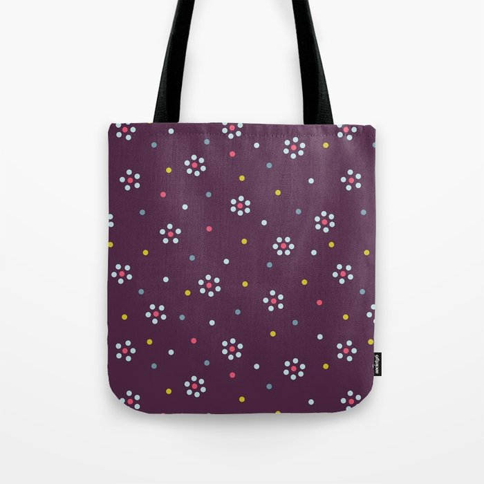 Floral dots girly pattern bag