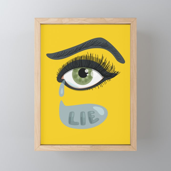 eye with tears mini art print