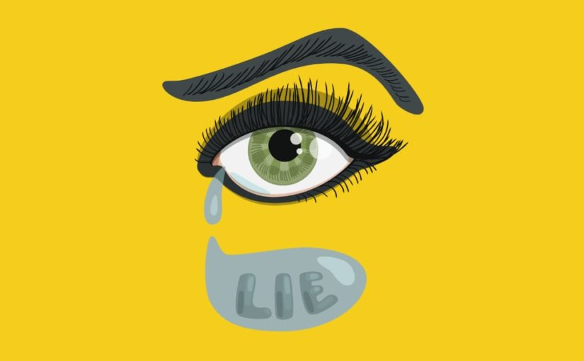 Lying eye vector illustration