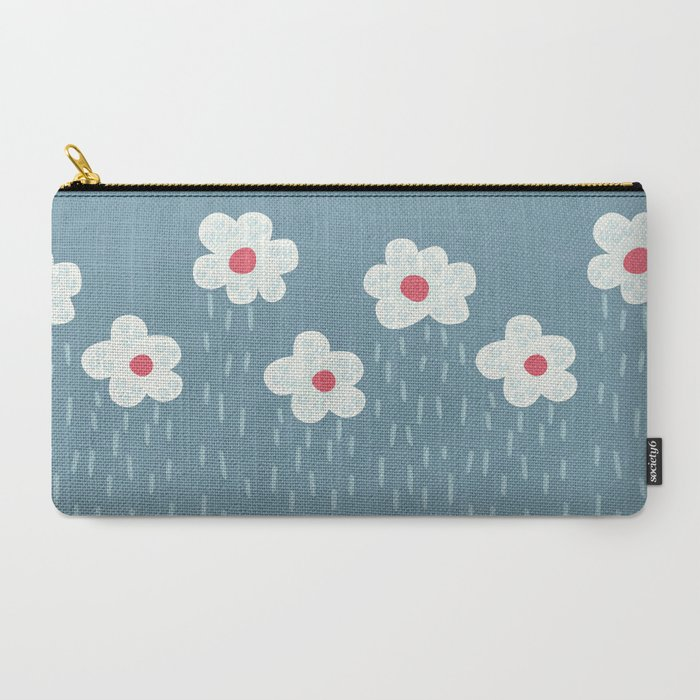 floral rain zip pouch in three sizes