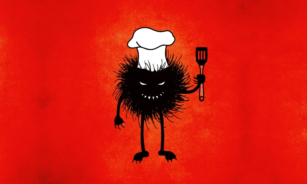 Evil chef character illustration