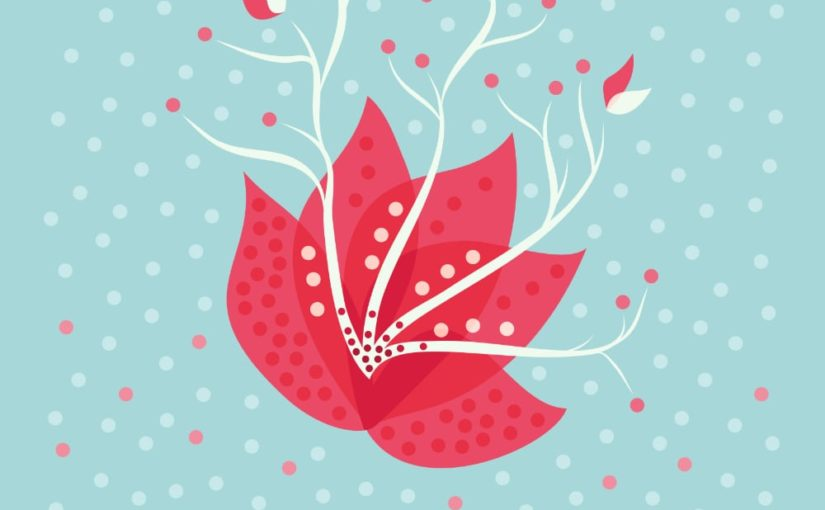 Abstract exotic flower vector illustration