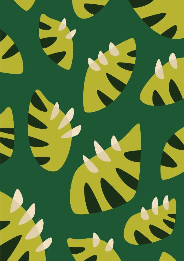 Gren leaf pattern art print