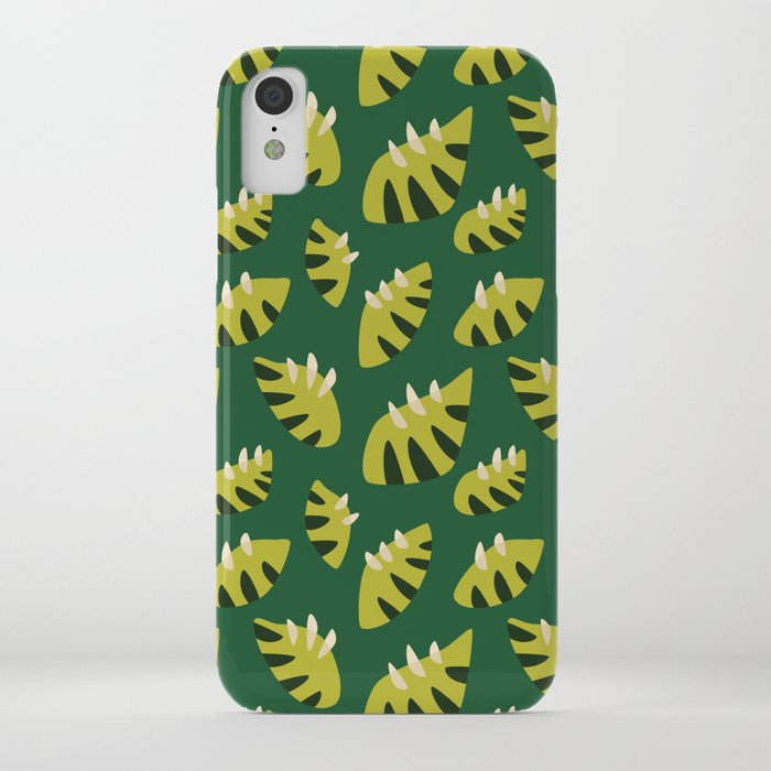 abstract green leaves customizable iPhone case