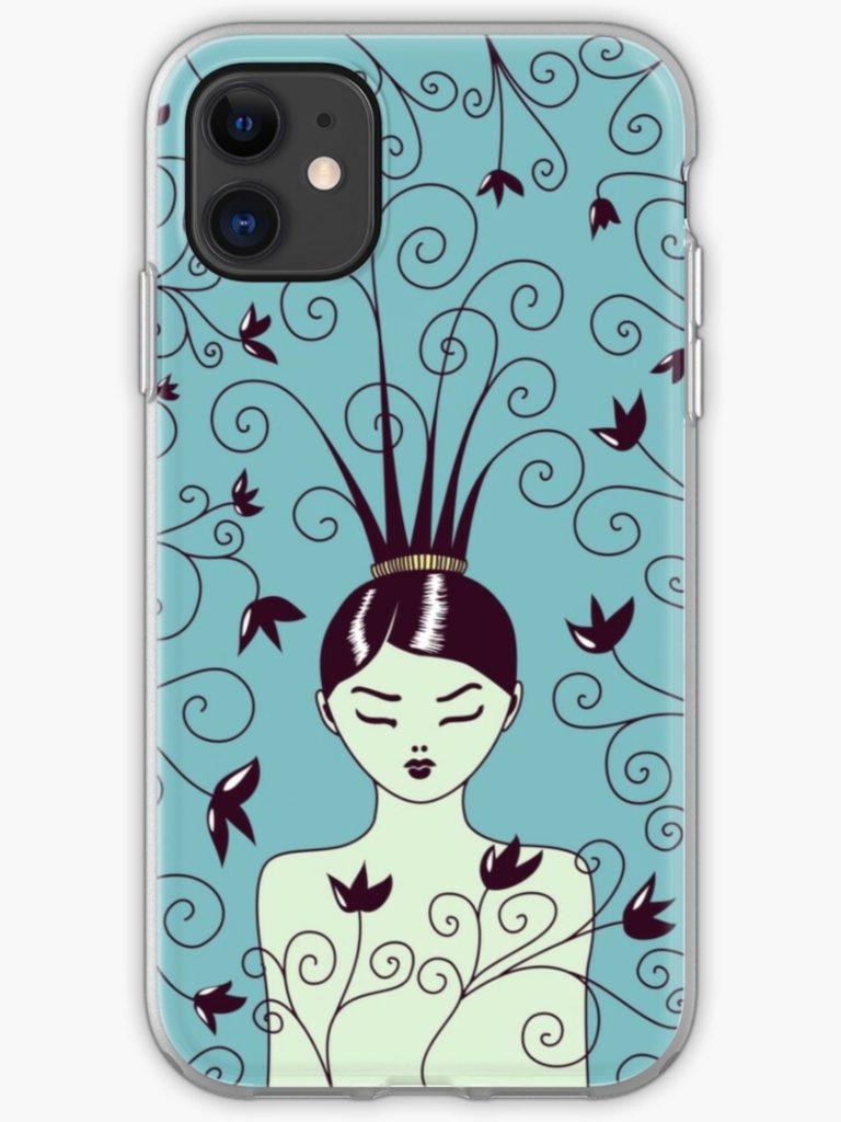swirly hairstyle iPhone case