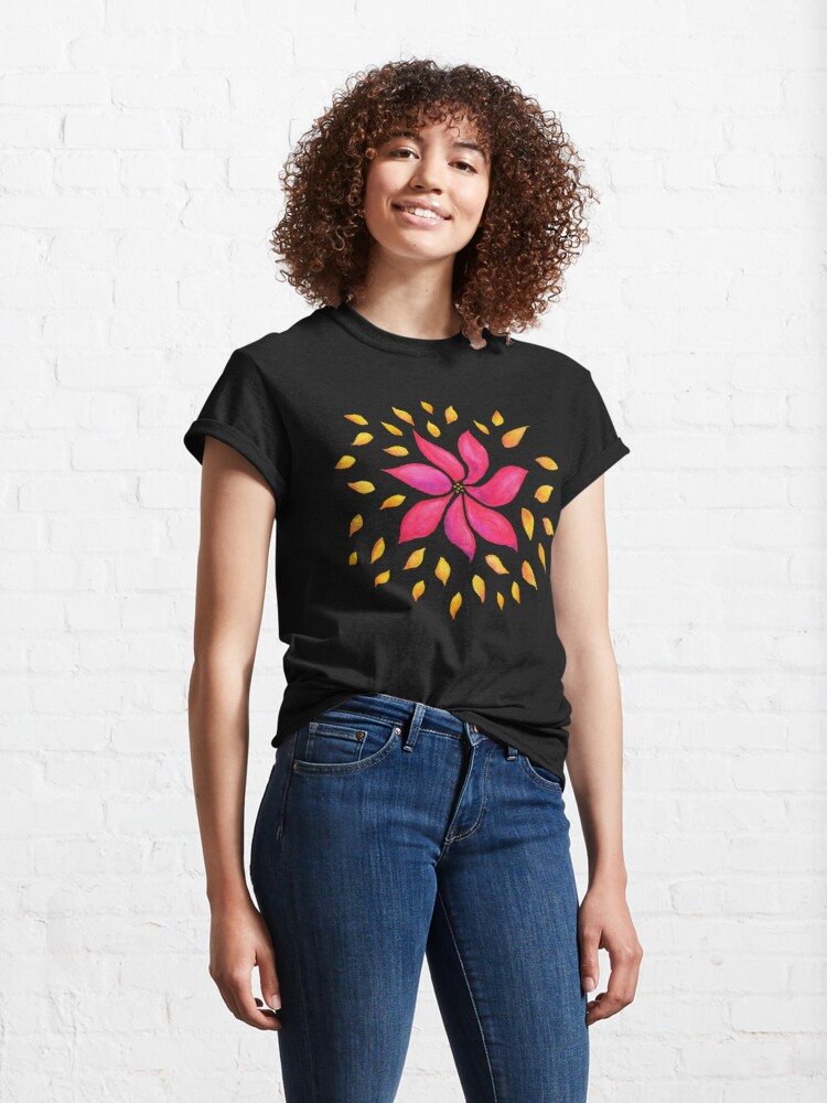 Abstract floral classic T-Shirt at my Redbubble store